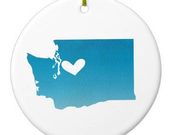Washington Seattle Christmas Ornament