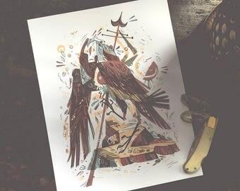 Harpy - archival art print