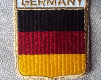 Vintage 1960s Germany Travel Patch German Flag Colors