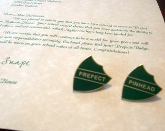 "Prefect Letter with ""Prefect"" Badge Personalized"