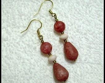 Mauve Earrings - Mauve Drop Earrings - Jewelry - E-220