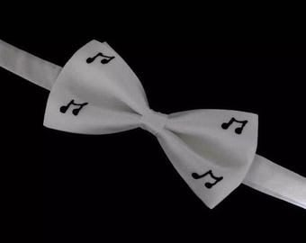 Music! Hand Painted Silk Bow Tie by Julie Riisnaes
