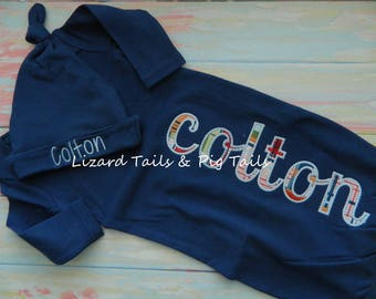 New Baby - Coming Home outfit - New Little Boy - New Little Girl - Baby Gown - Name Baby Gown
