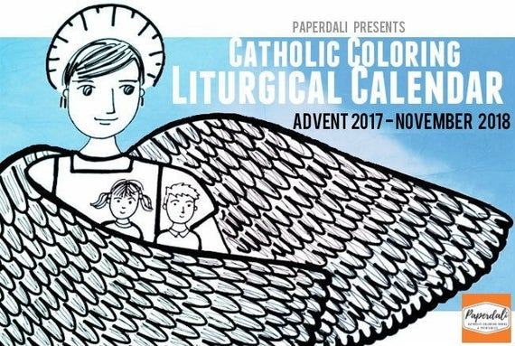 2017 2018 catholic liturgical calendar to download and color for Catholic liturgical year coloring page