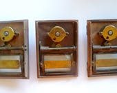 On Reserve -Vintage Greek Key Brass Post Box Doors Combination Lock Number Tag