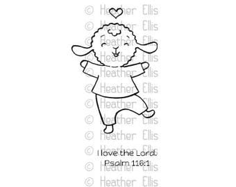 Rubber Stamp, Card making stamps, Lamb, Sale Item, Valentine stamp, Illustrated Faith, Bible Journaling, Religious stamp, stamp, crafters