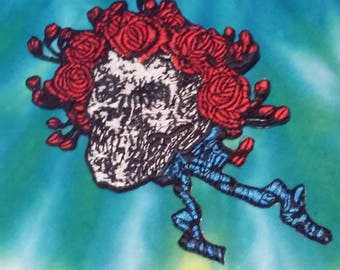 Bertha Patch, Skull & Roses, Grateful Dead, Bertha, Jerry Garcia Patch, Bob Weir, Dead and Company, Bertha,dont you come around here anymore