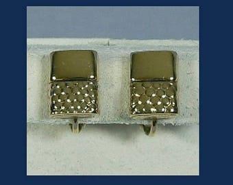 ON SALE Vintage Napier Lighter Novelty Earrings, Tobacciana Collectible, Goldtone