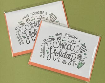 Have Yourself A Sweet Holiday Letterpress Card