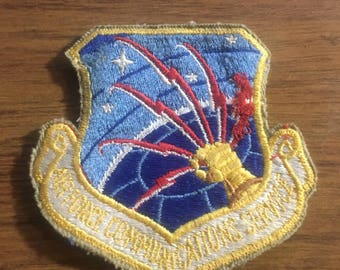 Vintage Airforce patch airforce communications service