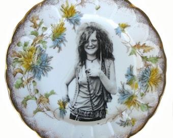 """Janis Joplin Portrait Plate 6.9"""""""