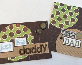 Just Like Daddy Card, World's Greatest Dad Card, Christian Father's Day Cards, Father's Day Cards, Father's Day.