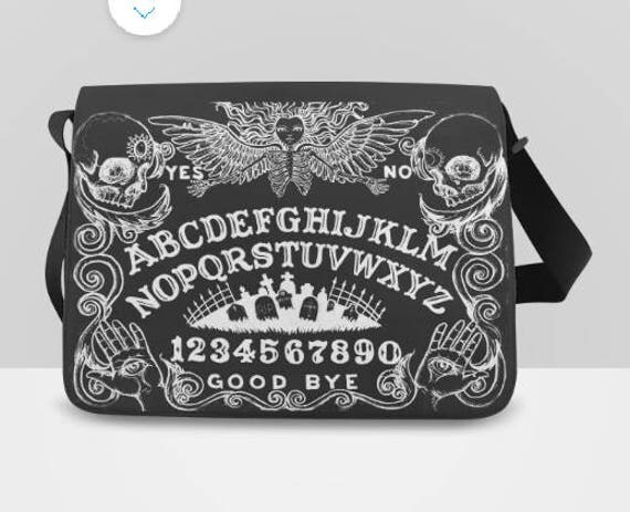 Ouija Angel Black messenger bag