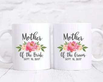 Mother of the Groom Gift from Bride Mother of the Bride Gift from Bride Mother of the Groom Gift from Son Pink Mother of the Bride Mug