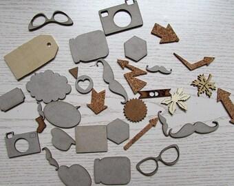 Bag of die cut shapes