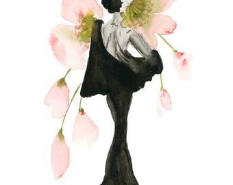 Woman & Florals