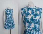 vintage 1950s butterfly dress