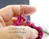 Arthritis help, copper crochet ring, copper knitting ring, knitting accessories, crochet tools, knitting tools, copper crochet ring
