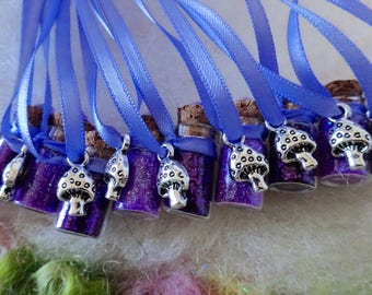 Mushroom Party Favors Purple Woodland Mushroom Fairy Party Favors, 10 Necklaces Tree Fairy Magic Mushroom Pixie Fairy Birthday Party