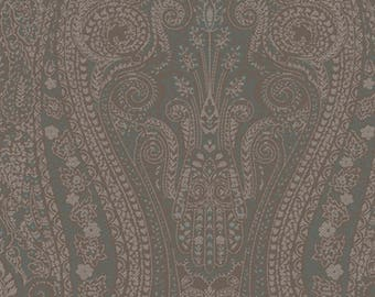 AR200543 Brown Teal Blue Coventry Paisley Wallpaper