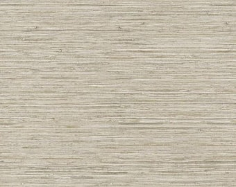 WB5502 Taupe Grey Horizontal Faux Grasscloth Wallpaper