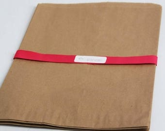 ON SALE Kraft Paper Bags- EXTRA Large-  13 x 3 x 21 w/ side gusset Lot of 50