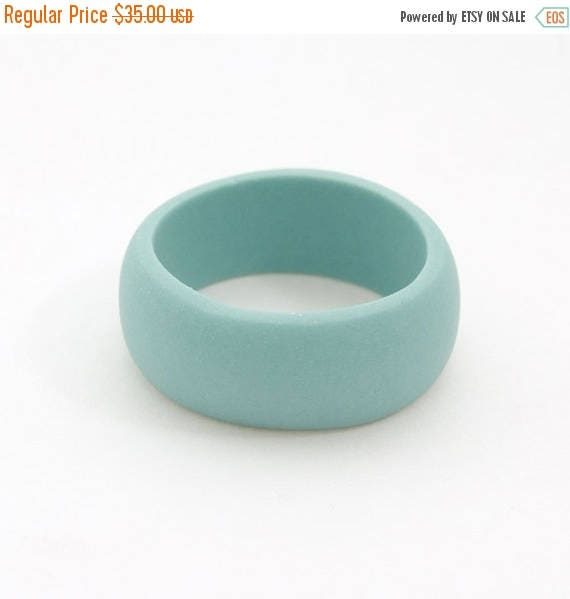 SALE Guerrero Porcelain  Simple Ring Band - Turquoise