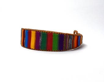 Women's Colorful Guatemalan Belt, Size Medium-Large