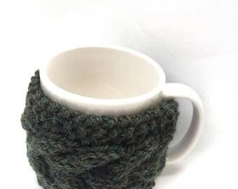 mug cozy knitted mug warmer green cup cozy