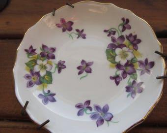 Royal Tuscan Woodland Violet Fine Bone China Ceramic Dish Made in England