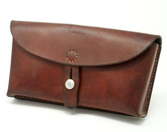 Swiss Military Leather Cartridge Pouch Belt Bag