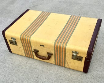 Vintage Horn Suitcase with Key