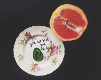 You Are What U Eat Avocado Vagina Tea Plate