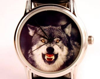 ON SALE 25% OFF Watch wolf mens watches watch for hunter