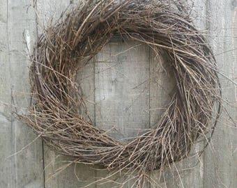 """Handmade twig wreath 16"""""""
