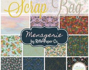 Menagerie - Scrap Bag Quilt Fabric Strips by Rifle Paper Co. for Cotton and Steel