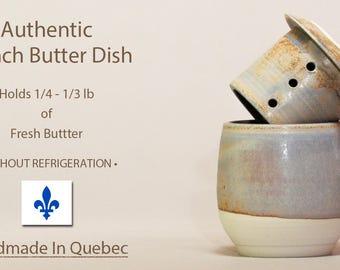 NEW FIRING! Tall French Butter Dish, Soft Butter Keeper, Beurrier Breton, French Butter Keeper, Butter Crock