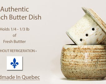 French Butter Dish - Beurrier Breton, Handmade Butter Dish, Butter Keeper, Lidded Butter Dish, Pottery Butter Dish
