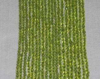Peridot,  Peridot Smooth Bead, Natural Stone, Semi Precious Stone, Gemstone,  Lime Green, Strand, 4mm