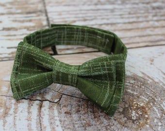 Toddler bow tie - boys bowtie - adjustable strap - kale - fern - green - greenery - wedding - baby - baby shower gift - boys - modern