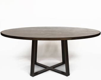 large round dining table round table or oval table choice of size and finish - Dining Table Round Wood