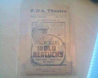 Vintage P&A movie theater handbill