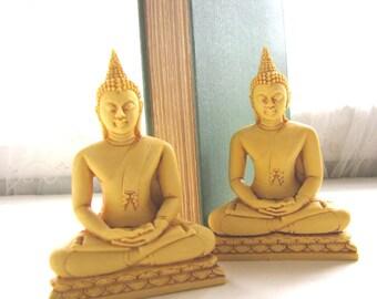 Vintage Seated Buddha Figurine Meditation Buddha Buddha Bookends from AllieEtCie