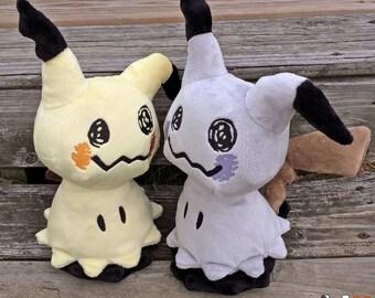 Mimikyu and Shiny Mimikyu Pokemon Plush Handmade Fan Art Dolls