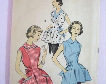 Vintage Apron Sewing Pattern - Advance NYC - 1950s