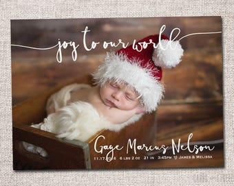 Birth Announcement And Christmas Card