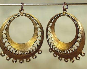 Vintage brass chandelier | Etsy