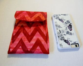 Red and Orange Chevron Batik Cell Phone/iPhone Case
