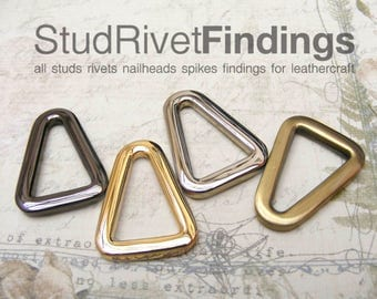 4pcs Tiny Triangle Rings 12mm (inside) Buckles Strap Findings Leather Purse Bag Making