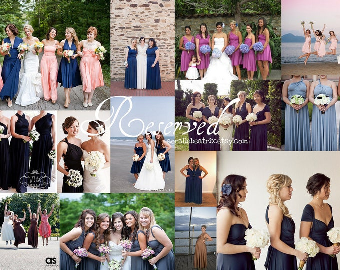 Reserved listing for Amanda-5 Long Fiesta Pink Dresses
